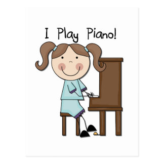 Piano - Female Tshirts and Gifts Postcard