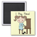 Piano - Female Tshirts and Gifts Square Magnet