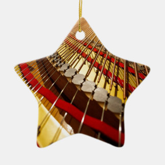 Piano from Bass Strings Ceramic Star Decoration