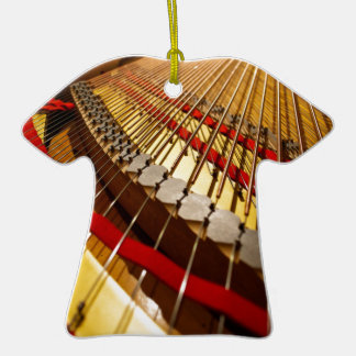 Piano from Bass Strings Ceramic T-Shirt Decoration