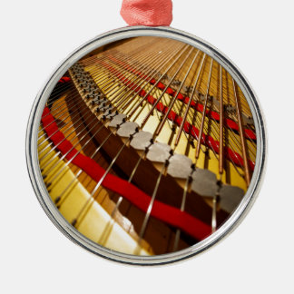 Piano from Bass Strings Silver-Colored Round Decoration