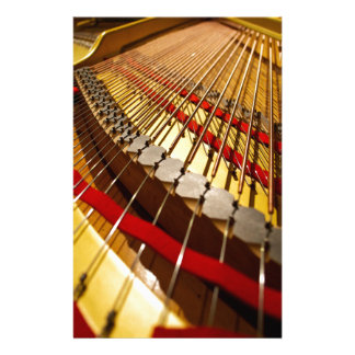 Piano from Bass Strings Personalized Stationery