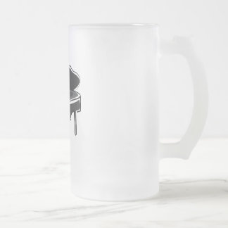 Piano Frosted Glass Mug