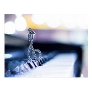 Piano Gclef Postcard