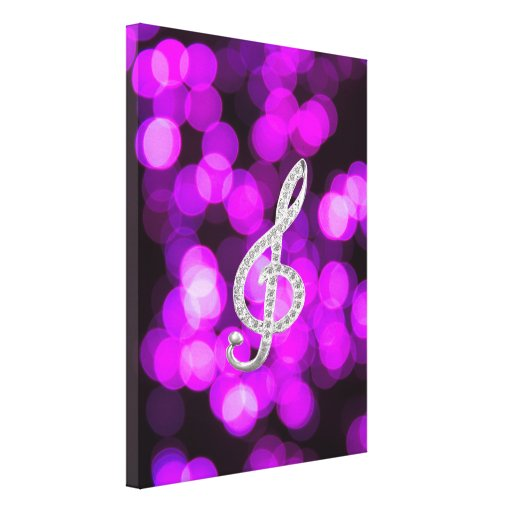 Piano Gclef symbol Stretched Canvas Print