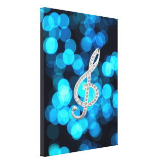 Piano Gclef symbol Gallery Wrapped Canvas