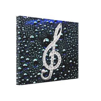 Piano Gclef symbol Canvas Print