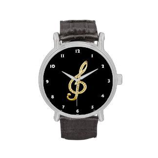 Piano Gclef symbol Wristwatch
