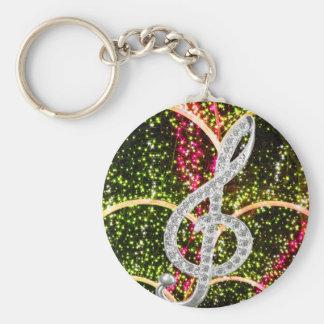 Piano Gclef Symbol Key Ring