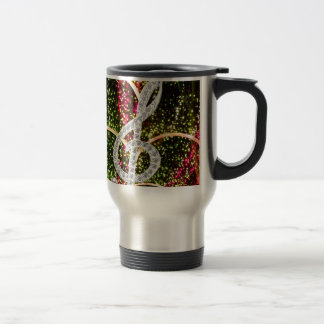 Piano Gclef Symbol Stainless Steel Travel Mug
