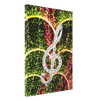 Piano Gclef symbol Stretched Canvas Prints