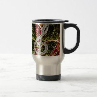 Piano Gclef Symbol Travel Mug