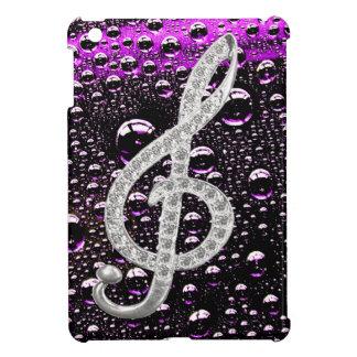 Piano Gclef Symbol with rain drop background iPad Mini Cover