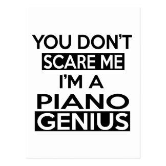 PIANO GENIUS DESIGNS POSTCARD