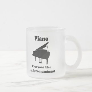 Piano Gift Frosted Glass Mug