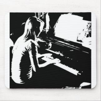 Piano Girl Mouse Mat