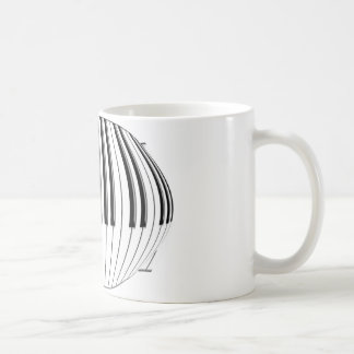 Piano Globe Basic White Mug