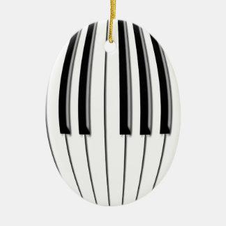 Piano Globe Ceramic Oval Decoration