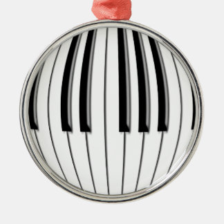 Piano Globe Round Metal Christmas Ornament