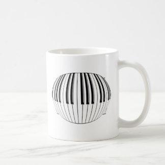 Piano Globe Coffee Mugs