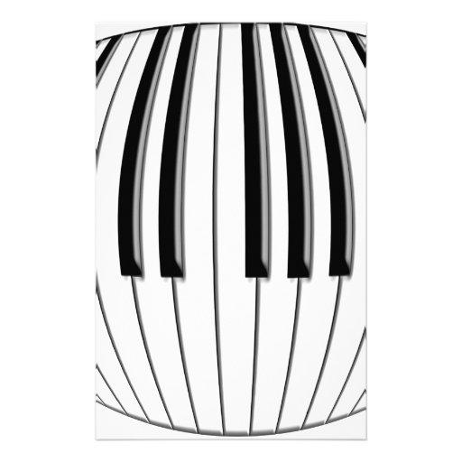 Piano Globe Customized Stationery