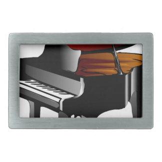 piano gloss black belt buckle