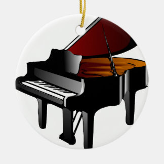 piano gloss black christmas ornament
