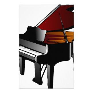 piano gloss black custom stationery