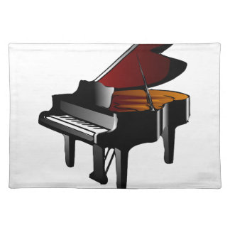 piano gloss black placemat