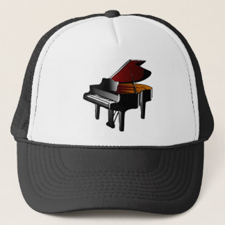 piano gloss black trucker hat