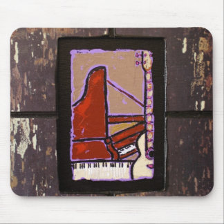 piano  guitar mouse pad