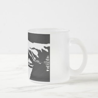 Piano Hands Frosted Glass Mug