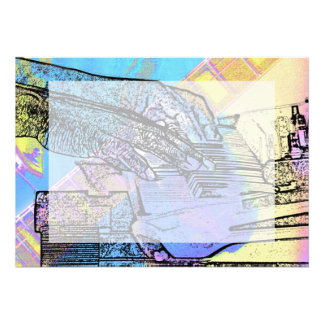 piano hands  guitar neck hands pastel version card