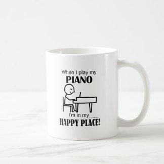 Piano Happy Place Classic White Coffee Mug