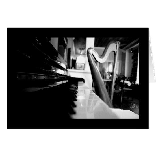 Piano & Harp [Greeting Card] Card