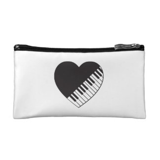 Piano Heart Cosmetic Bag