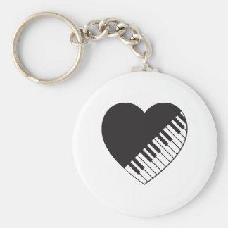 Piano Heart Key Ring
