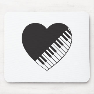 Piano Heart Mouse Pad