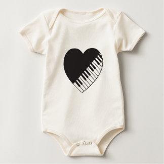 Piano Heart Baby Bodysuit