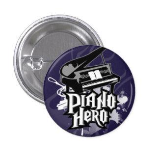 piano-hero 3 cm round badge