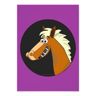 Piano Horse Cards 13 Cm X 18 Cm Invitation Card