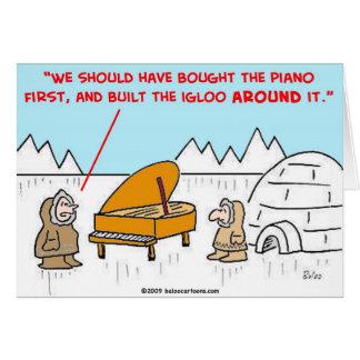 piano igloo Eskimoes Card