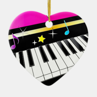 Piano in a Heart Christmas Ornament