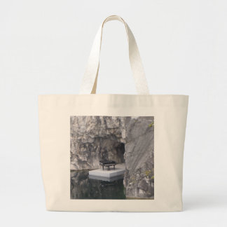 Piano in marble canyon (Ruskeala mining park) Large Tote Bag