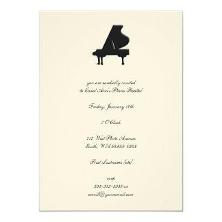 """Piano 5"""" X 7"""" Invitation Card"""