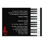Piano Invitation 13 Cm X 18 Cm Invitation Card
