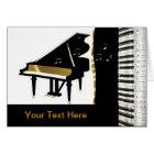 Piano Invitation Gold and Black Keyboard