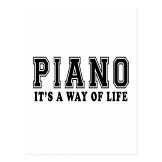 Piano It's way of life Postcard