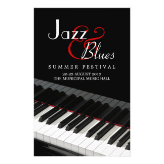 Piano Jazz Blues Music Concert flyer