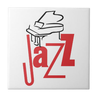 Piano Jazz Small Square Tile